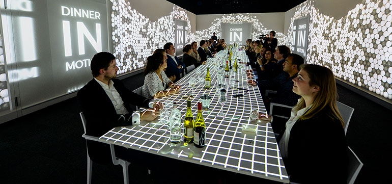 Utrecht, 3-D Dinner food experience – Dinner in Motion